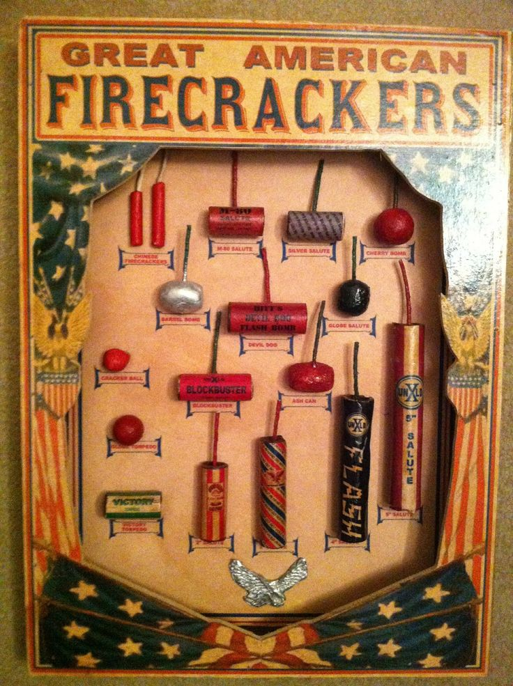 Firecrackers display. | Vintage 4th of July Fireworks ...