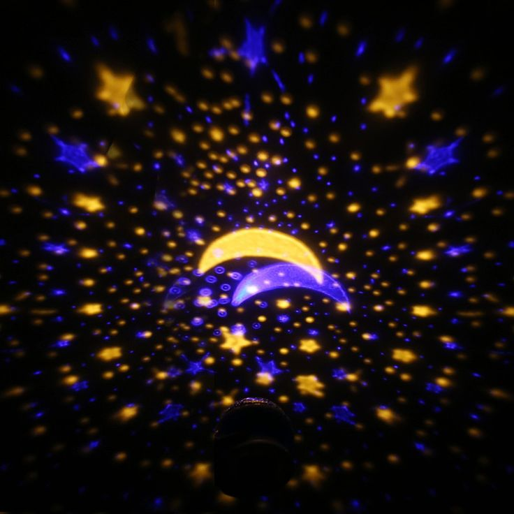 Perfect LED Starry Sky Rotating Night Light Moon USB Ball Projector Lamp Degree Multi colored Romantic Children Baby Bedroom Nursery Use Christmas Festival Gift