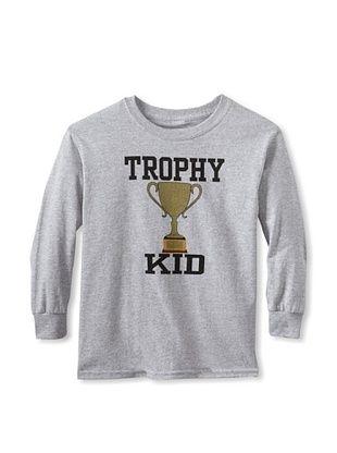 67% OFF Little Dilascia Kid's Trophy Kid Long Sleeve Tee (Grey)