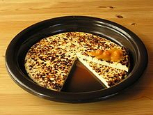 Leipäjuusto is a cheese, here served with cloudberry jam