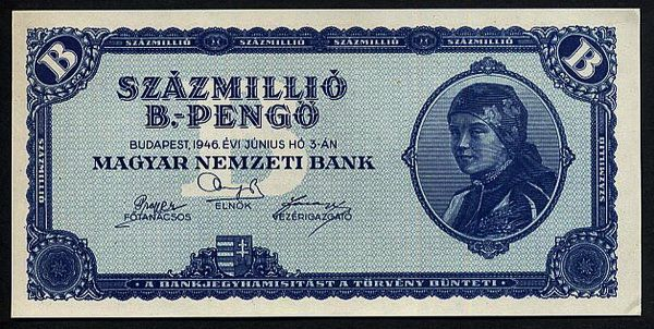 Vintage Hungary Paper Money
