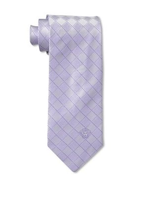59% OFF Versace Men's Checker Tie, Lavender