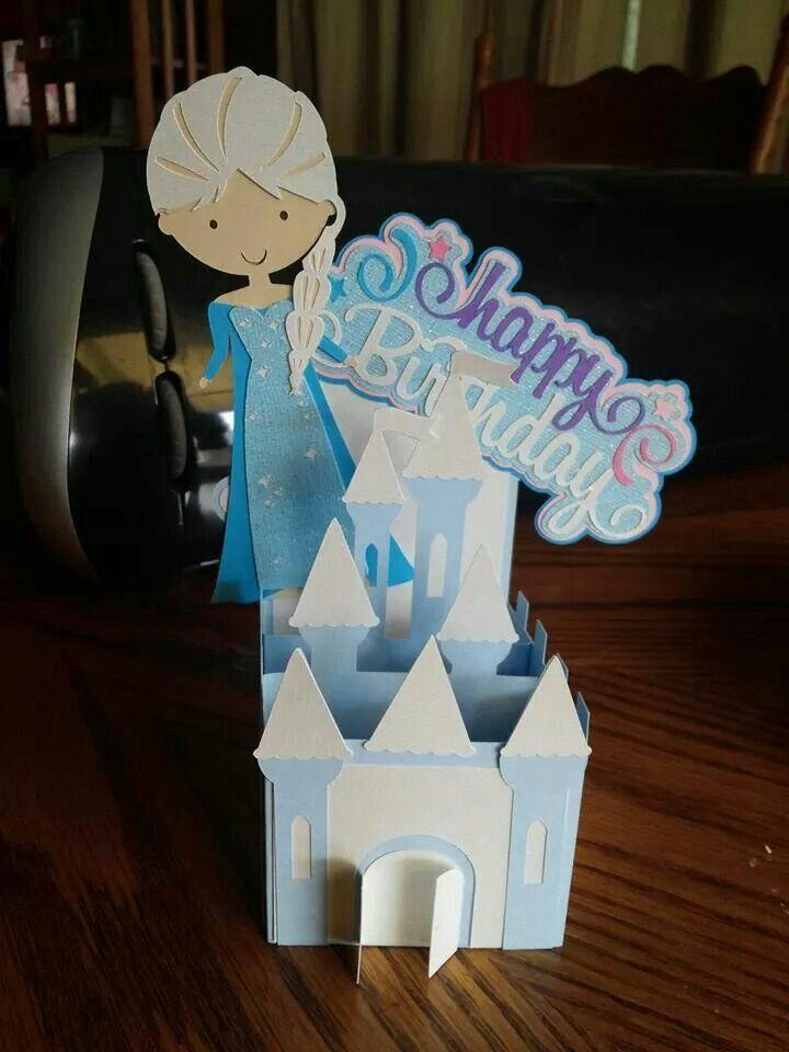 Elsa Frozen card using Cricut Explore and SVG file. WOW!