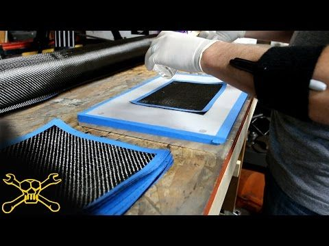 Making Carbon Fiber Plate for Engine Accessory Brackets. The Fab Forums - YouTube