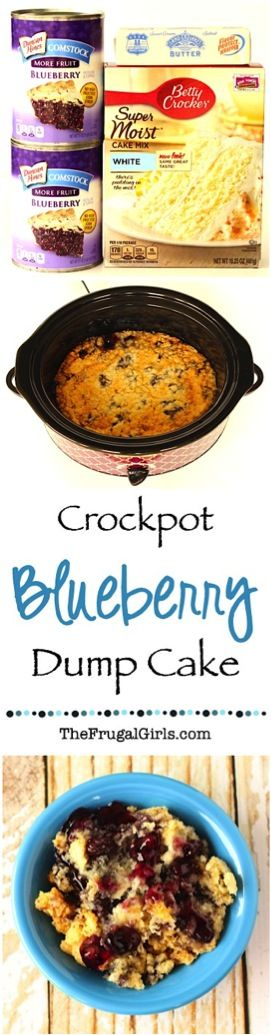 Crockpot Blueberry Dump Cake Recipe & LOTS of entree and dessert recipes for the crockpot.