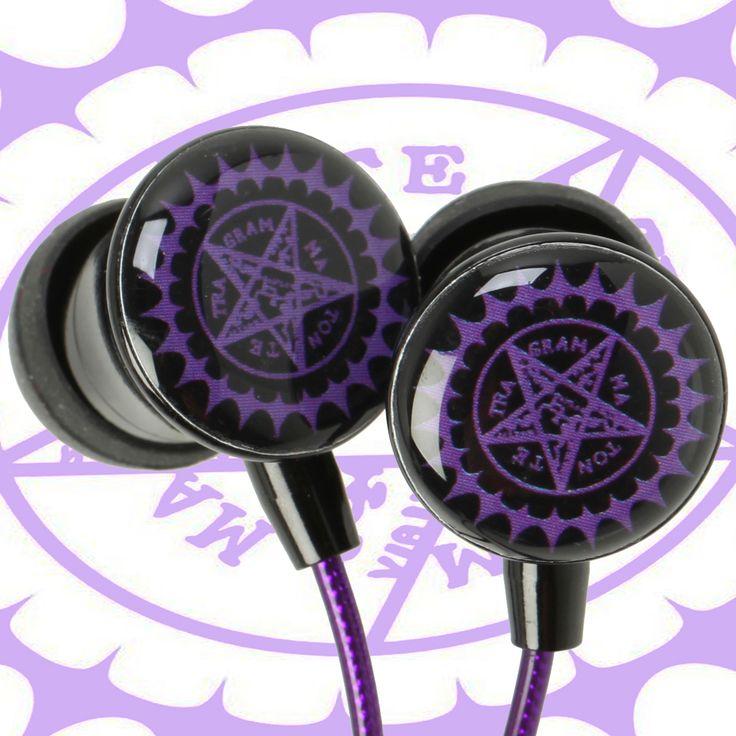 Black Butler Earphones #blackbutler #earphones #headphones #anime #merch #merchandise #earplugs