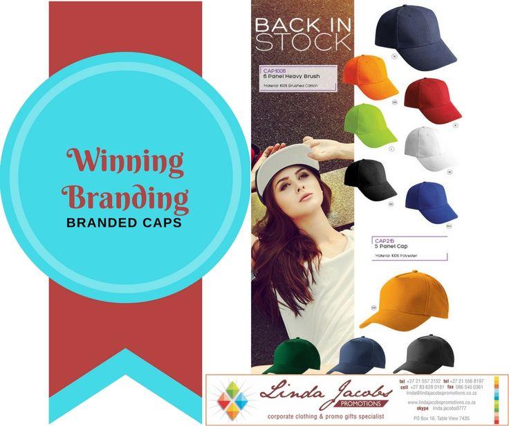 Branded caps - been seen #brandedpromwear www.lindajacobspromotions.co.za  linda@lindajacobspromotions.co.za 083 6280181 021 5572152