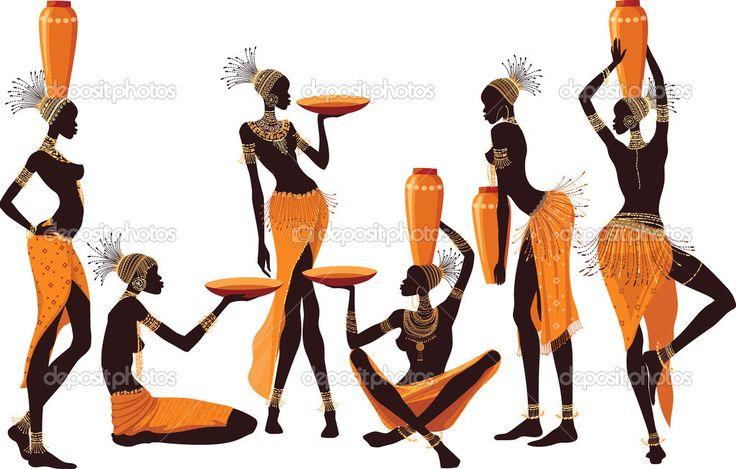 African women — Stock Vector © Mikhaylova #22996978