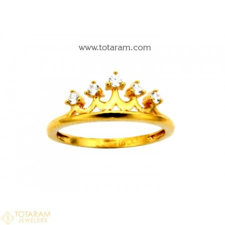 22K Gold Ring For Women with Cz - 235-GR4119 - Buy this Latest Indian Gold Jewelry Design in 3.050 Grams for a low price of  $195.20