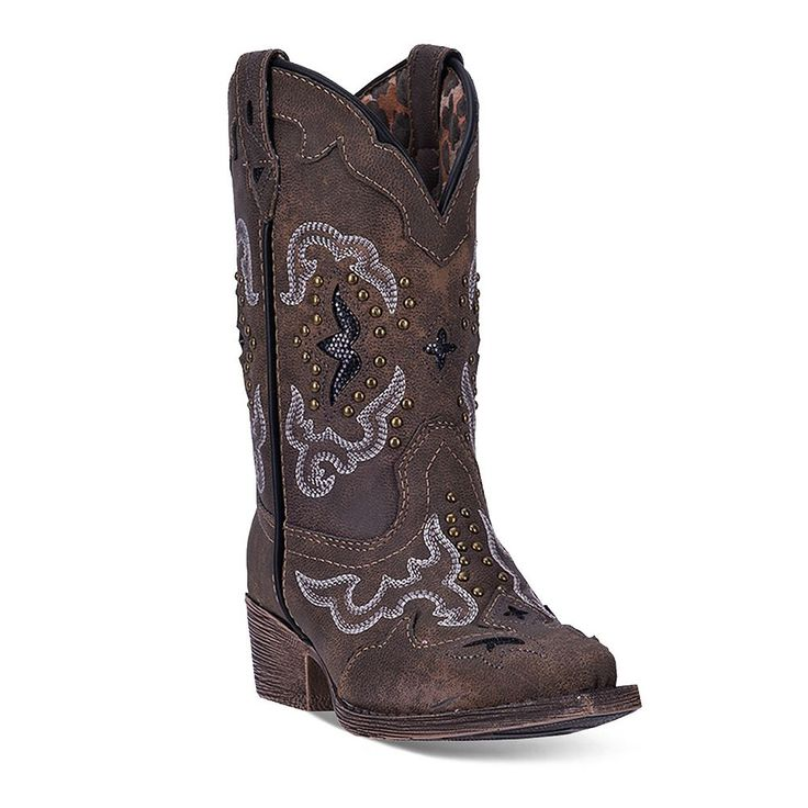Laredo Rulay Kids' Cowboy Boots, Girl's, Size: 10.5T, Brown
