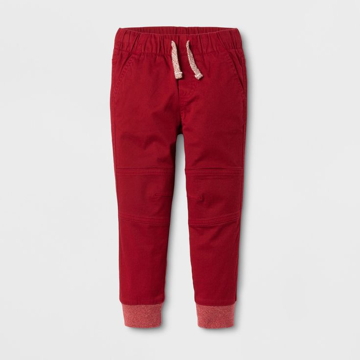 Toddler Boys' Pull-on Pants Cat & Jack™ Red Ribbon : Target