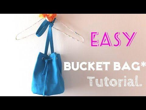 **DIY**How to make Bucket Bag**Easy Tutorial** - YouTube