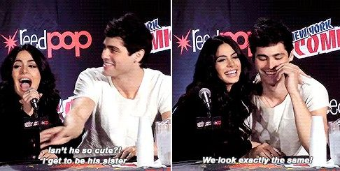 Emeraude Toubia and Matthew Daddario || Shadowhunters cast || Isabelle Sophia Lightwood and Alexander Gideon Lightwood || Izzy Lightwood and Alec Lightwood || Lightwood Siblings