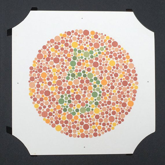 Marvelous Ishihara Colour Blindness Test Plate 10 Green By Wafflesandsprout Idea