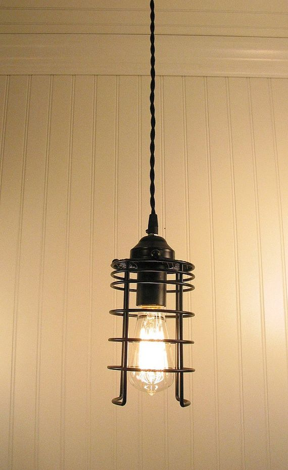 Industrial Inspired Pendant LIGHT with Edison Bulb - Industrial Lighting - The Lamp Goods - 1