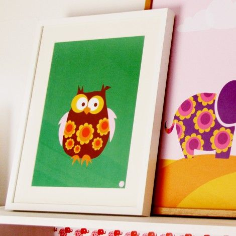 Poster (small), Owl