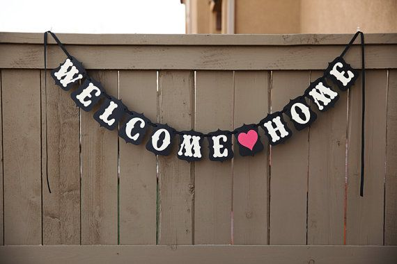 17 best ideas about welcome home banners on pinterest banner template printable banner and. Black Bedroom Furniture Sets. Home Design Ideas