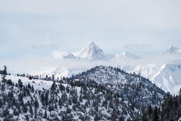 Snow Mountain Landscape Winter Landscape Mountain Landscape Snow Mountain