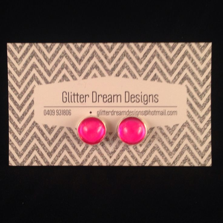 Order Code A7 Pink Cabochon Earrings
