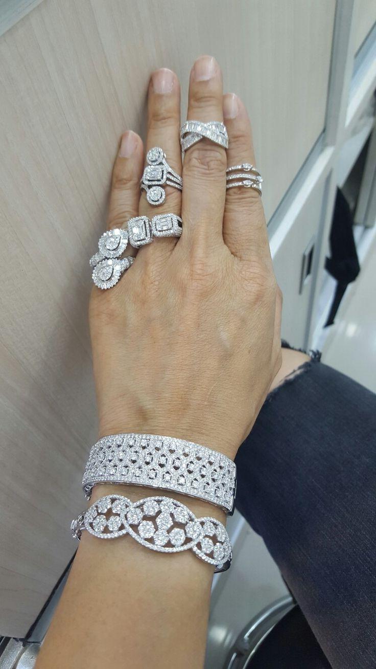 Diamond bangle &diamonds ring