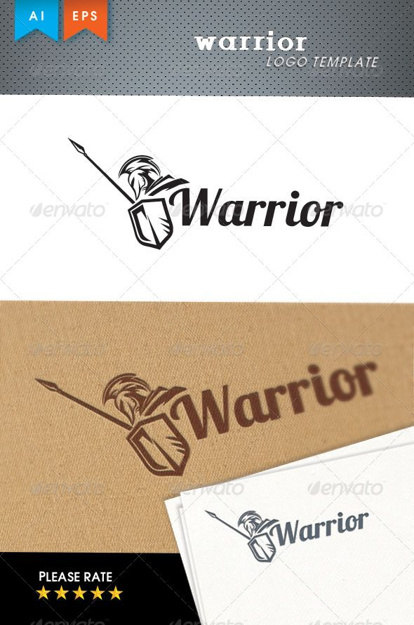 Warrior	 Logo Design Template Vector #logotype Download it here: http://graphicriver.net/item/warrior-logo-template/6176395?s_rank=526?ref=nexion