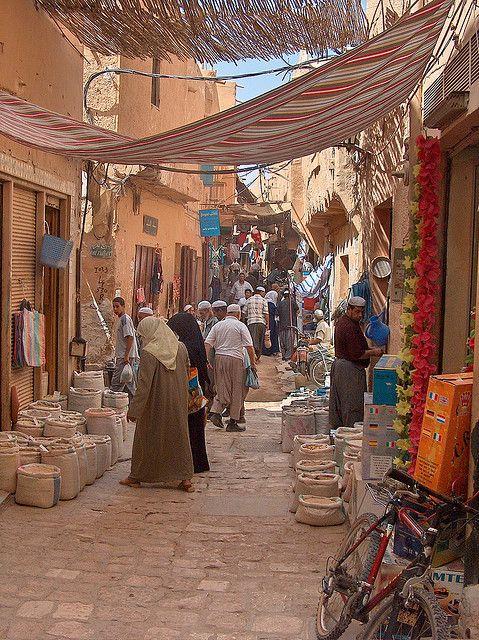 Street in Ghardaïa, capital of the Beni M'Zab culture, Algeria