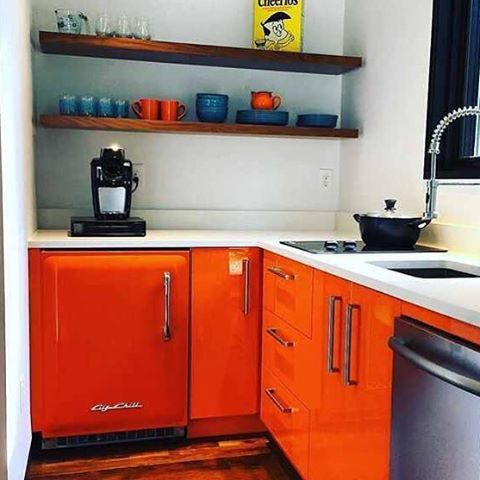 Happy Big Chill customer and an amazing orange kitchen! What do you think? #BigChill