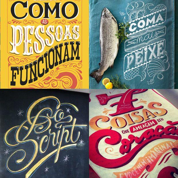 Sérgio Bergocce - 10 designers brasileiros que criam incríveis letterings feitos à mão;