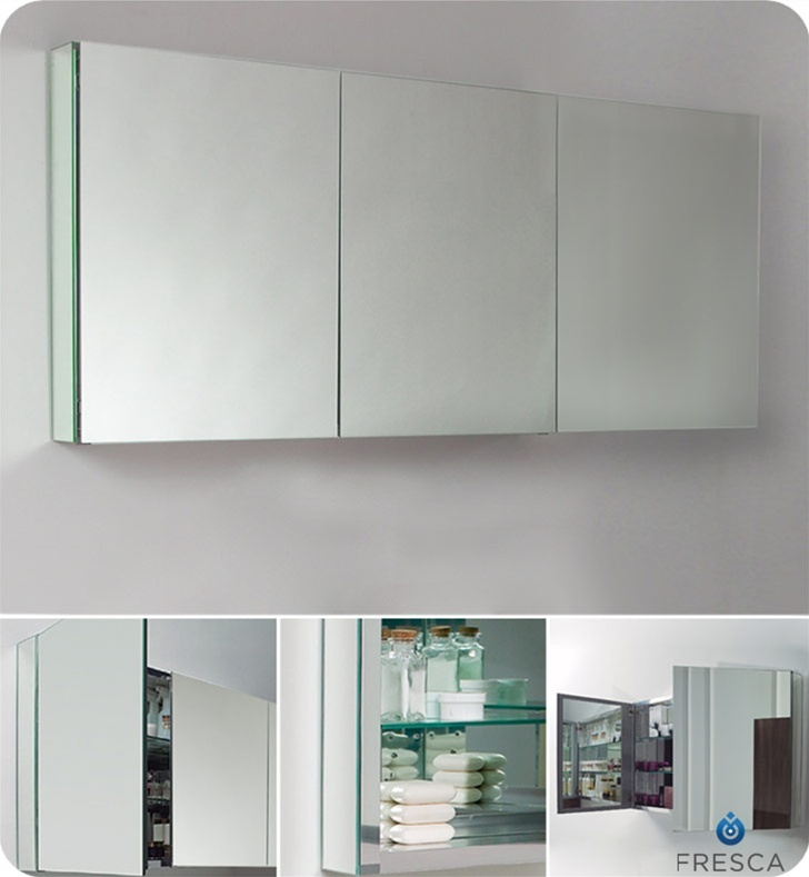 Ugly But Functional Fresca FMC8019 Large Medicine Cabinet W Mirrors
