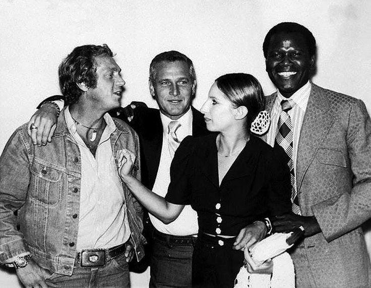 Steve McQueen, Paul Newman, Barbara Streisand, & Sidney Poitier.