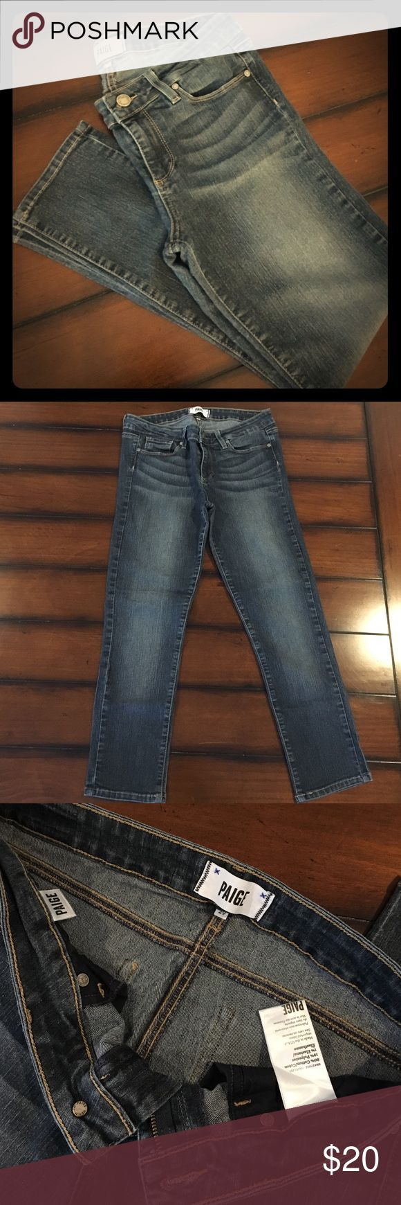 """Paige Premium Denim Skinny Ankle Jeans size 29 Medium wash, Paige Premium Denim ankle style jeans size 29, with a 24"""" inseam & 8"""" rise. I wore these a lot the first 4-6 weeks after having my daughter. They are still in very GUC, No rips, stains or tears. Lots of stretch and very flattering! Paige Jeans Jeans Ankle & Cropped"""