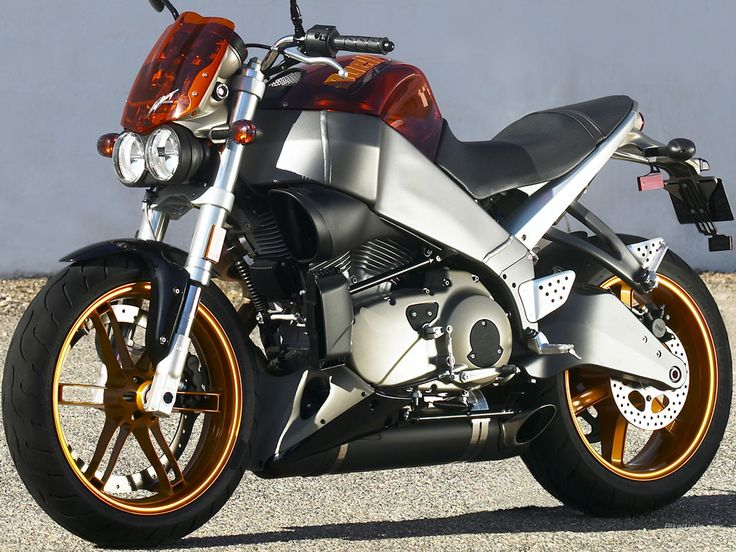 Buell, I've got one of these! Mines an all black xb9sx, though I do like the orange ;)