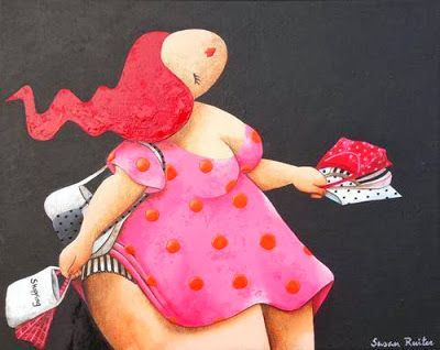 Susan Ruiter is a Dutch painter whose main paintings are of plus size women or voluptuous ladies. Her inspiration came from another famous painter Fernando Botero.
