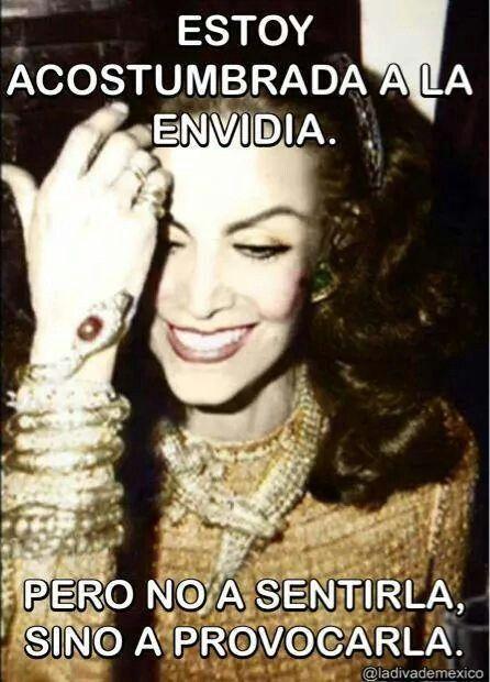 """@ María Félix #la_doña. Frases chingonas """"LA ENVIDIA ES MEJOR PROVOCARLA QUE…"""