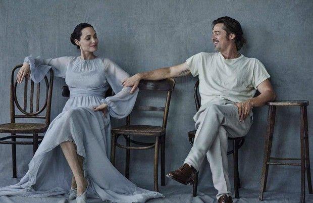 Angelina Jolie and Brad Pitt for Vanity Fair Italia by Peter Lindbergh