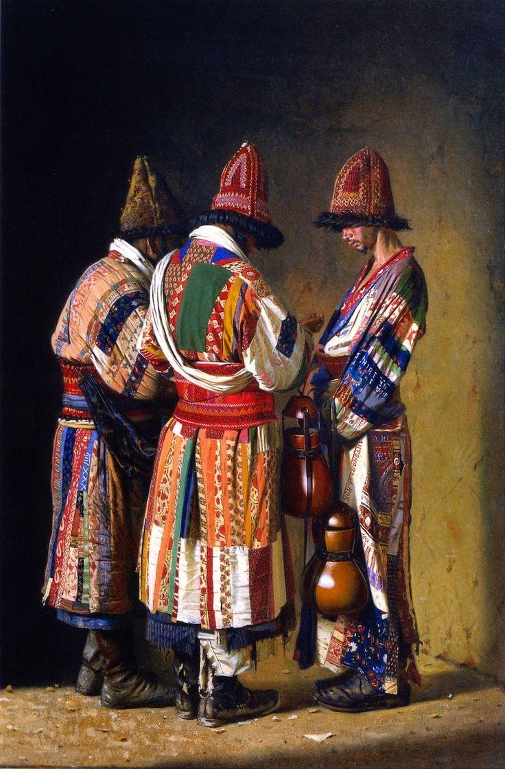 Vasily Vasilevich Vereshchagin - Dervishes in Festive Clothes, Tashkent, Uzbekistan,1870