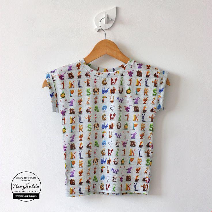 Alfabet koszulka dla dzieci