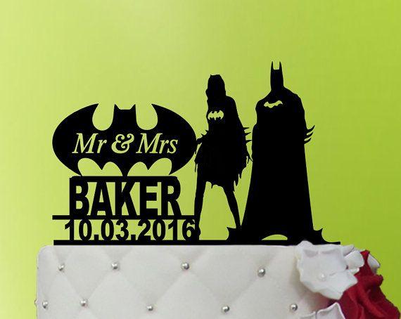 Wedding Cake Topper Batman cake topper Batman Wedding cake