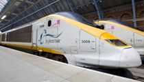 Travel from London to Paris with ease on a Eurostar train.