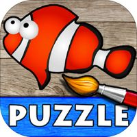 Ocean - Color Your Puzzle and Paint the Sea Fish Drawings - Coloring, Drawing and Painting Games for Kids - Lite by MagisterApp