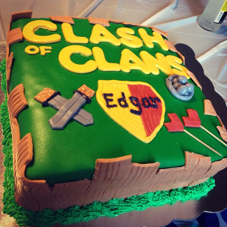 Cake Design Coc : Clash of Clans Cake! clash of clans Pinterest Clash ...