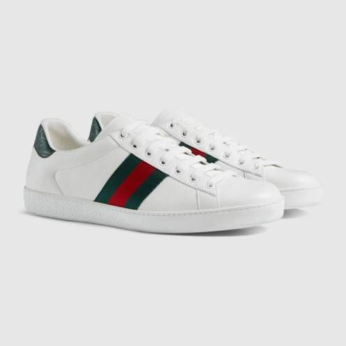ba80193d48db52 Collection de baskets Gucci Ace   Clothes   Pinterest   Sneakers, Gucci and  Leather sneakers