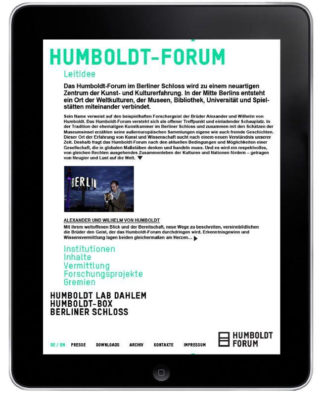 Humboldt-Forum / Stan Hema, Agentur für Markenentwicklung – Berlin