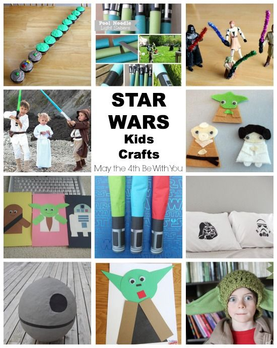Star Wars Kids Crafts for May the 4th  IF I DIDN'T HAVE TOO MANY OTHER THINGS TO DO TODAY I WOULD SO BE MAKING AT LEAST THREE OF THESE. Maybe next weekend when it's actually SW Day? ;) Or ... summer. May is not likely to be low-key. Also I would be done with all the things I am trying to do on the computer this morning a lot faster if I didn't peak at Pinterest or my blog reader feeds.