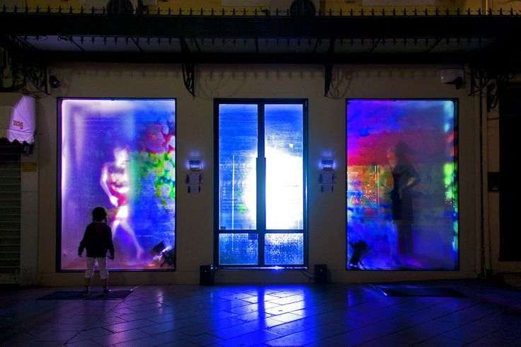 Mary Katrantzou Interactive Window Display at Mezzo Mezzo #marykatrantzou#mezzomezzocorfu#corfu#corfubynight#fashion#interactivewindowdisplay
