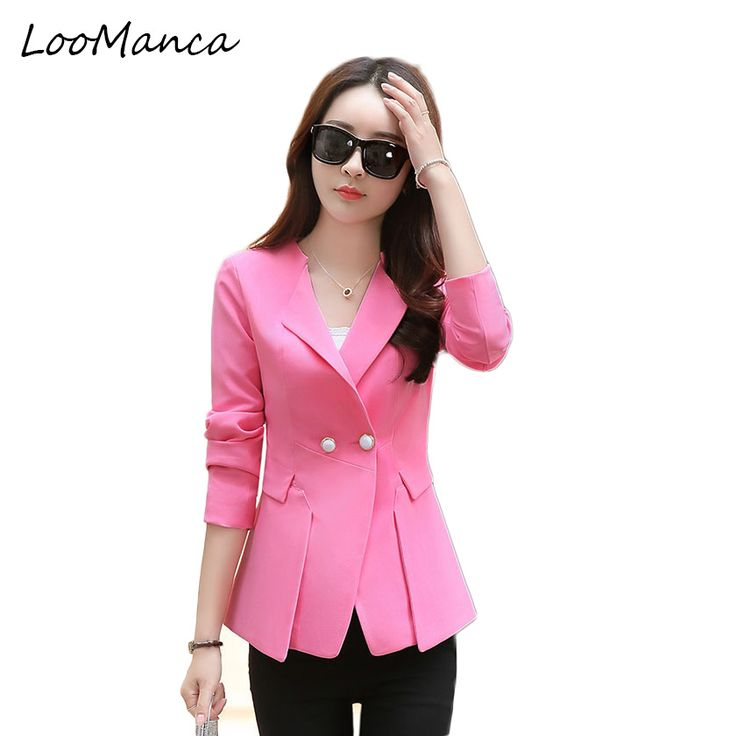Women blazers and Jackets 2017 New Slim Pleated Side ladies Suit Blaser Coat Femme Blazer Femenino Casual Suit Jacket Workwear