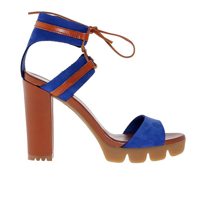 850T04_BLUE SUEDE www.mourtzi.com #mourtzi #sandals #thick_heels #shoes #casual