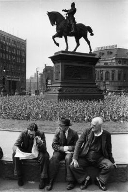 Black Prince, City Square, Leeds. photo by Marc Riboud.