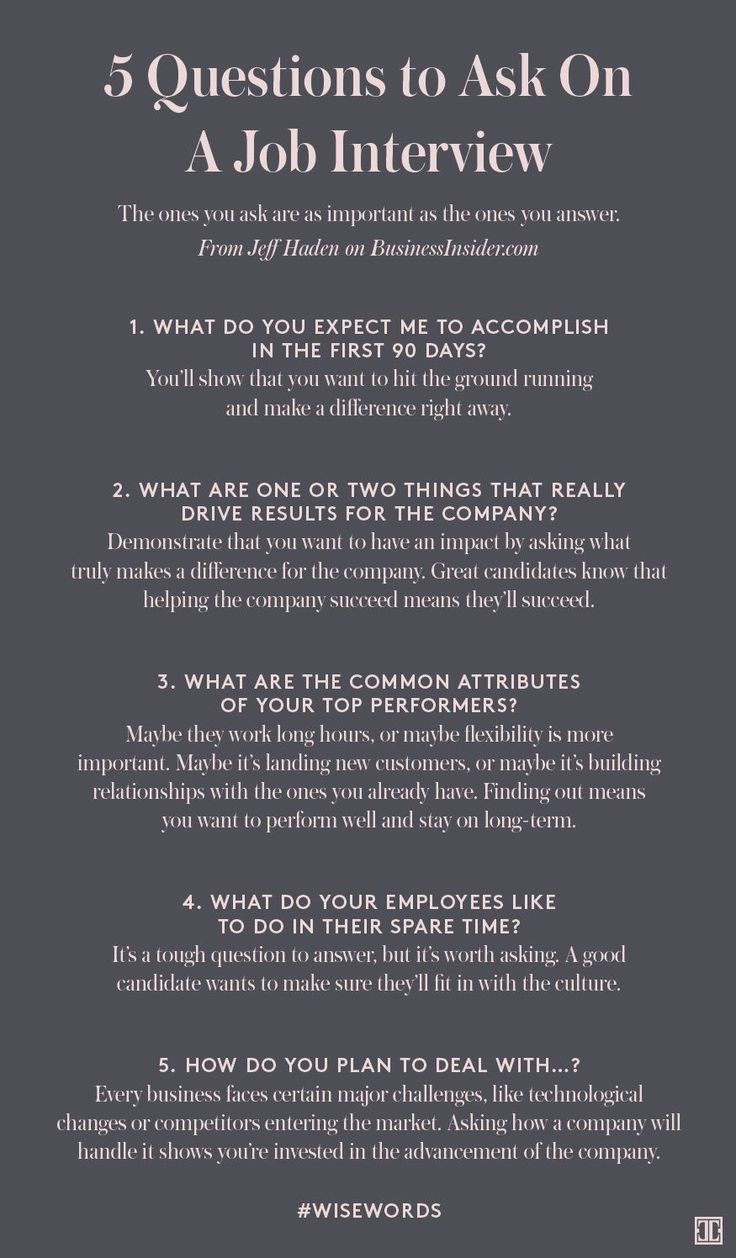 5 Questions to Ask On A Job Interview