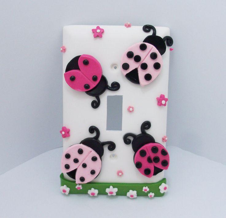 Put puffy bug stickers on light switch